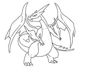 coloring pages mega charizard az coloring pages - Mega Charizard Coloring Page
