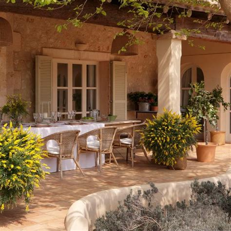 Patio Styles Ideas Classic Patio Ideas In Mediterranean Style