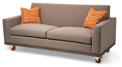 sofa on wheels studio detroit sofa wheels by michael amini modern sofas
