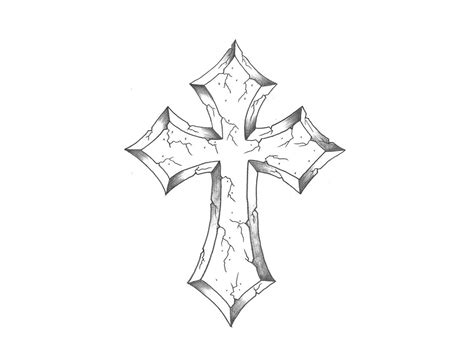 cross tattoo sketches how to draw a cross www imgkid the image