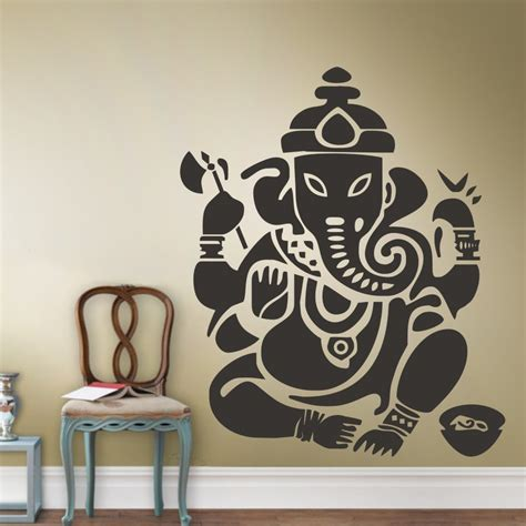 sticker on wall decor decorative stickers picture more detailed picture about wall decal decor sticker ganesh