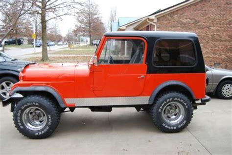 85 jeep cj7 buy new 1978 jeep cj7 85 restored fiberglass in
