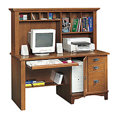 Sauder Mission Computer Desk With Hutch And Lower Shelf 57 Mission Style Computer Desk With Hutch