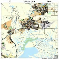 where is fairfield california on the map fairfield california map 0623182