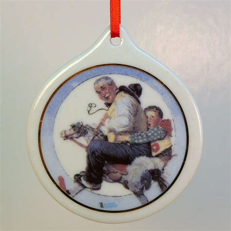 christmas ornament norman rockwell grs at the reins