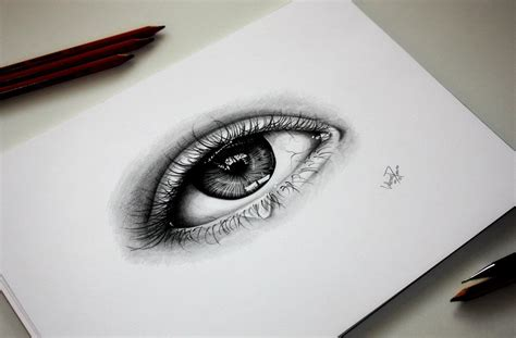 Cool Things To Draw Realistically by Realistic Eye Drawing By Tinten97 On Deviantart