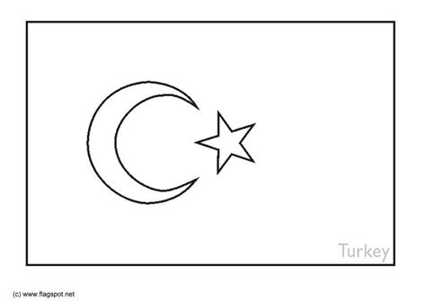 coloring page flag turkey img 6387