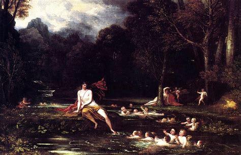 oeuvres themes narcisse benjamin west gt gt narcisse et 233 cho huile reproduction copie tableau oeuvre peinture