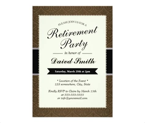 word templates for retirement invitations 30 retirement party invitation design templates psd