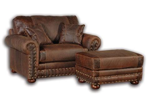 oversized leather couch big sky collection jesse james oversized chair