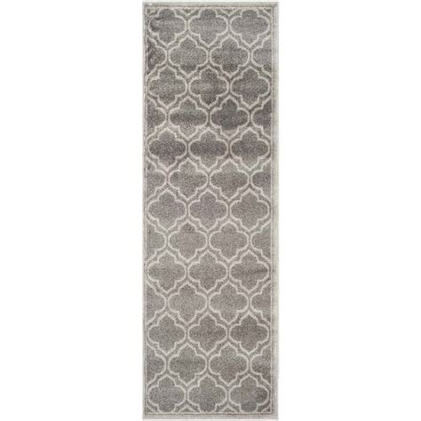 indoor outdoor rug runner safavieh amherst grey indoor outdoor rug runner 2 3 quot x 11 amt412c 211