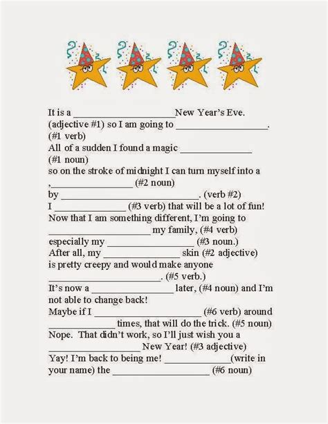 classroom freebies happy new year fractured tale parts of