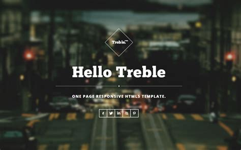 bootstrap themes single page treble one page responsive theme business corporate