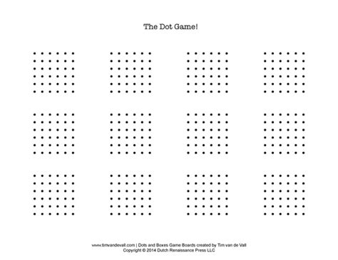 printable dot games dots and boxes coloring pages