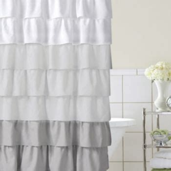 home classics shower curtain home classics ruffle ombre fabric shower curtain grey