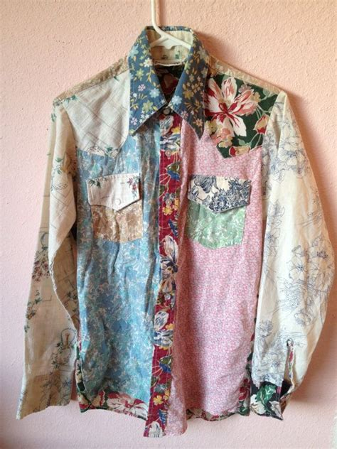 As A Button Patchwork - vtg s 80 s 90 s patchwork floral button by