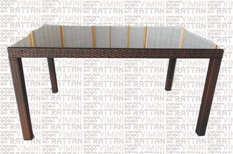 tavolo in rattan sintetico tavolo rattan sintetico esterno marrone tiger giardino