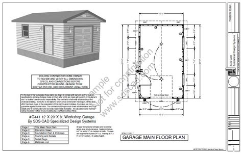 The G441 12 X 20 X 8 Garage Plan Free House Plan Reviews 8 X 20 House Plans