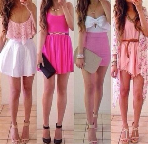 pink summer outfits pictures   images