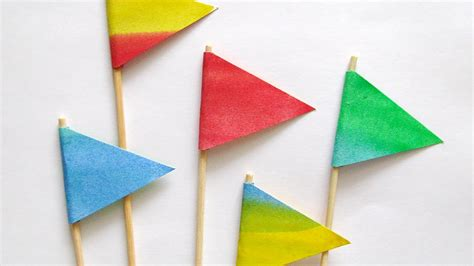 How To Make Paper Flags - craft decorative paper flags diy crafts guidecentral