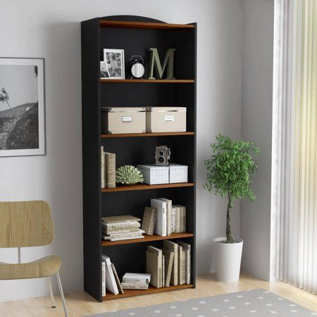 book shelves walmart mainstays 5 shelf bookcase colors walmart