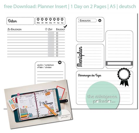 filofax planner pages printable free download updated planner inserts a5 personal size