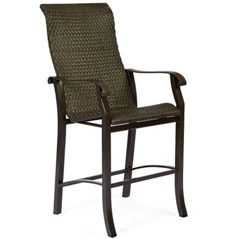 bar stool patio furniture cortland woven stationary bar stool by woodard patio