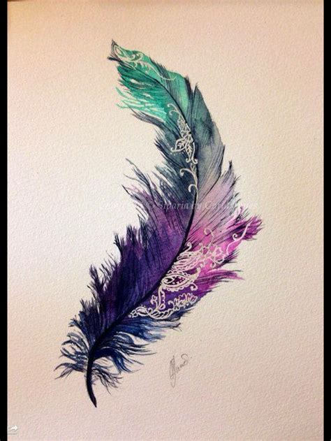 feather watercolor tattoo pin by fern 225 ndez on tattos feathers