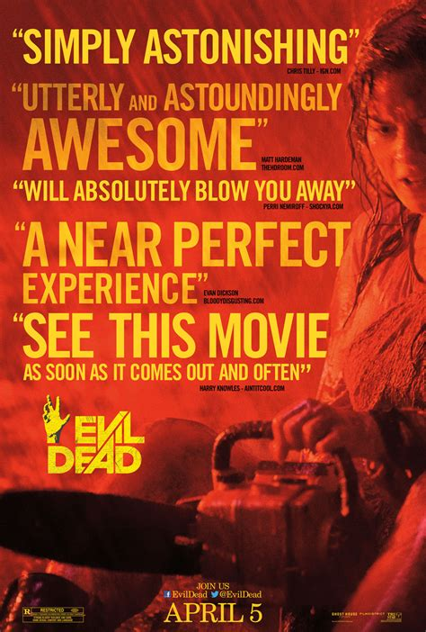 review film evil dead 2013 arena of the unwell no hell s house party
