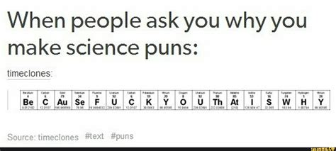 Periodic Table Of Elements Puns by Pin Periodic Table Puns On