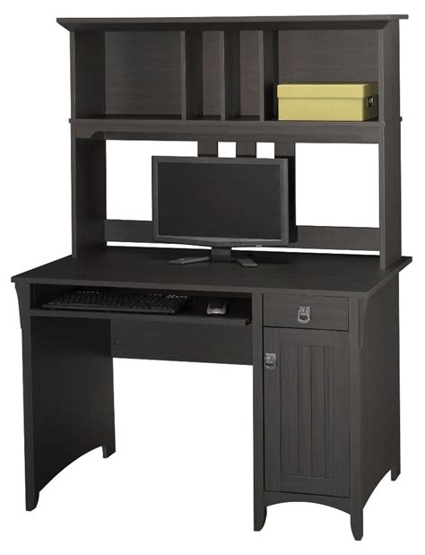 Mission Desk With Hutch Salinas Mission Desk And Hutch From Bush My72708 03 Coleman Furniture