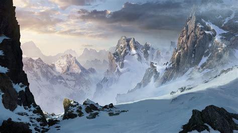 paint nite mountain view snowy mountains by artek92 on deviantart