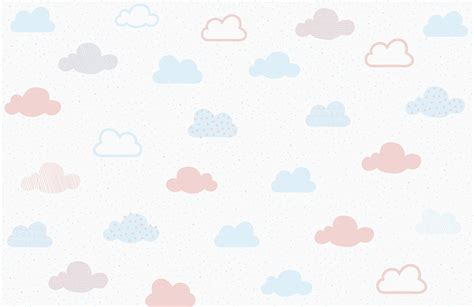 pastel patterned paper uk soft pastel cloud pattern wall mural murals wallpaper