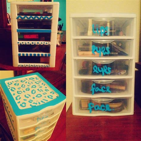 diy makeup drawer organizer decorated a 5 drawer sterilite container for a sort of diy