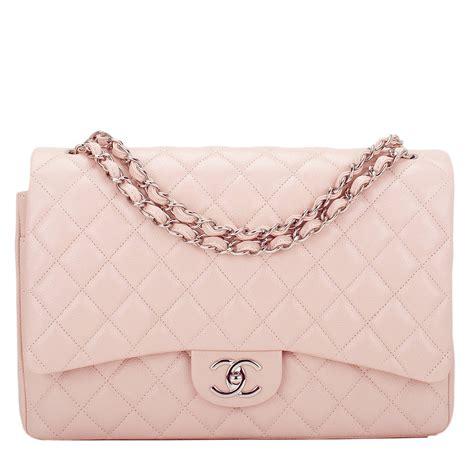 Tas Fashion Chanel Maxi Medium Classic chanel light pink quilted caviar maxi classic flap bag at 1stdibs