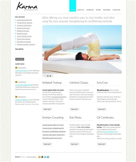 website templates for yoga yoga website template 33218