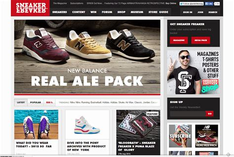 sneaker website 12 best sneaker blogs of many