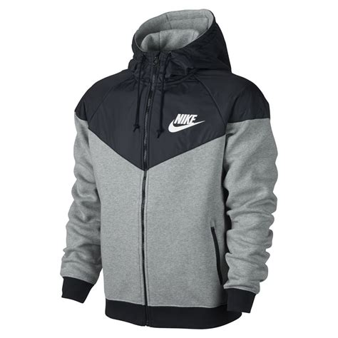 Jaket Sweater Nike 3d Turkis nike s windrunner fleece mix jacket grey