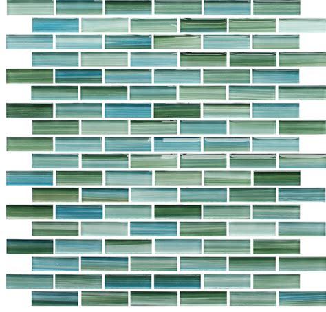 rip curl green and blue hand painted glass mosaic subway tile 10 square feet contemporary