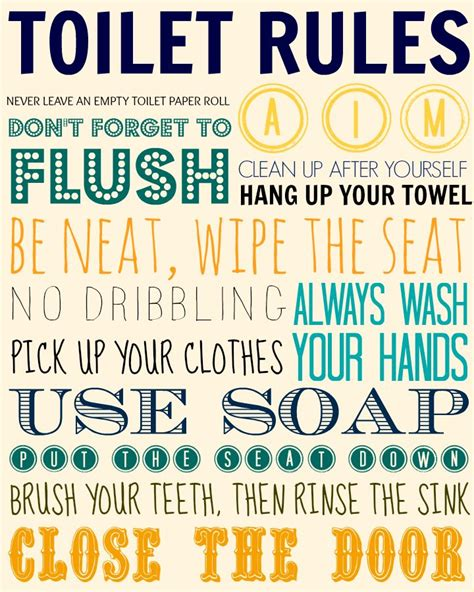 rules for the bathroom toilet rules clever clever pinterest
