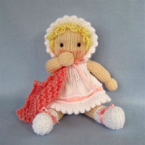 knitting pattern toys little daisy knitted toy baby doll pdf email knitting