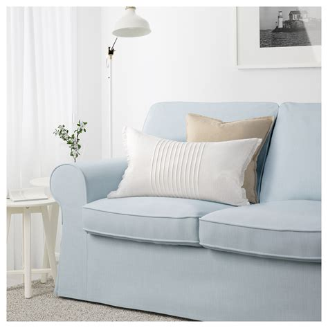 blue sofas ikea ektorp three seat sofa nordvalla light blue ikea