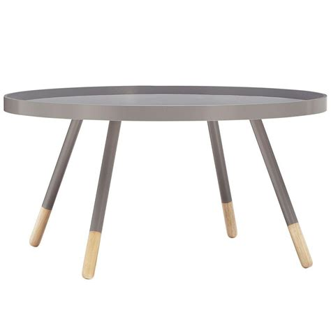 Grey Table L by Homesullivan 35 5 In L Tray Top Grey Cocktail Table
