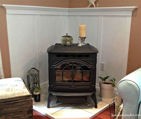 Caddy Corner Fireplace by Hometalk How To Make A Pellet Stove Mantle