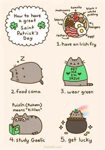 pusheen st patrick s day january february march