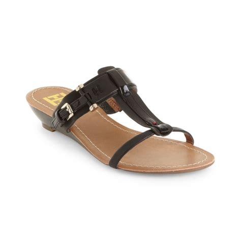hilfiger wedge sandals hilfiger merci wedge sandals in black lyst