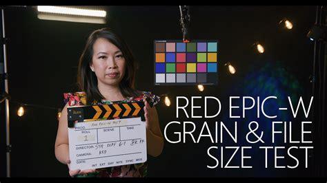 red epic film grain red epic w 8k redcode compression grain file size test