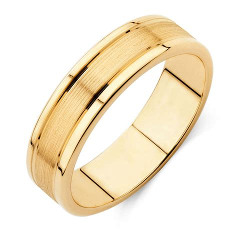 Wedding Bands Gold by S Wedding Band In 10ct Yellow Gold