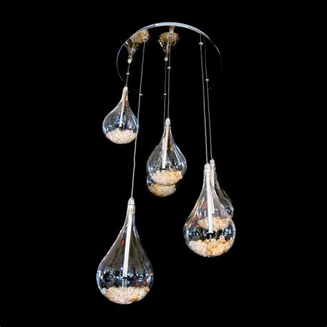 Drop Pendant Lighting with Arrow 6 Light Tear Drop Shaped Ceiling Pendant Light In Chrome With Crystals Arrow From Arrow