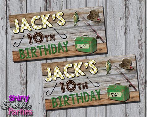 printable party bag toppers printable fishing treat bag toppers fishing themed party